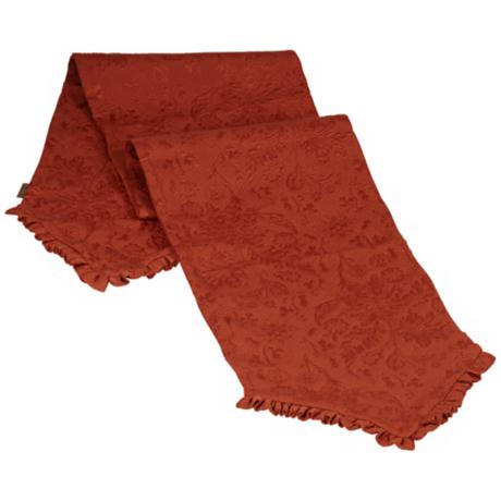Bella Collection Terracotta Fabric Table Runner