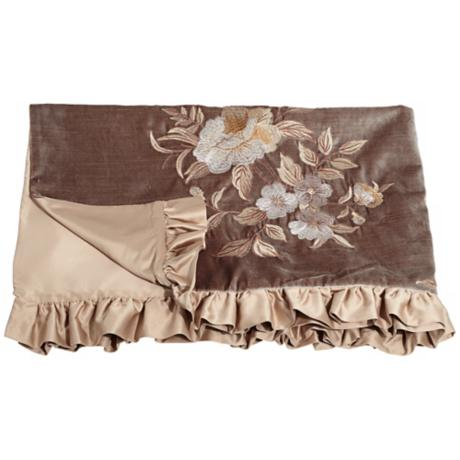 Legacy Collection Floral Embroidered Throw