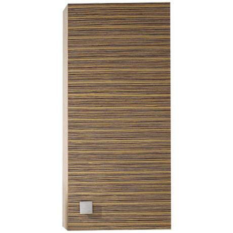 "Knox Zebra Wood 39"" High Wall Cabinet"