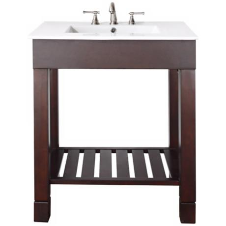 "Loft Dark Walnut 31"" Wide Bath Sink Vanity"