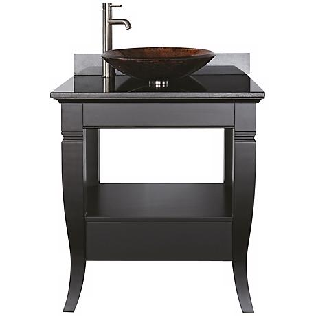 "Milano Black Granite Top 31"" Wide Bath Vanity"