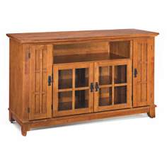 Arts and Crafts Cottage Oak Entertainment Credenza