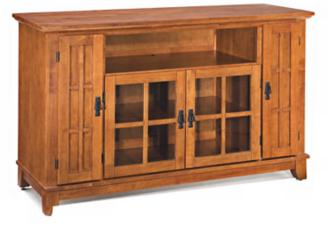 Arts and Crafts Cottage Oak Entertainment Credenza (U0415)
