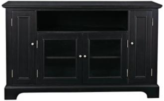 Bedford Ebony Finish Entertainment Credenza (U0418)