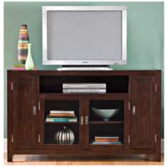 City Chic Espresso Wood Entertainment Credenza