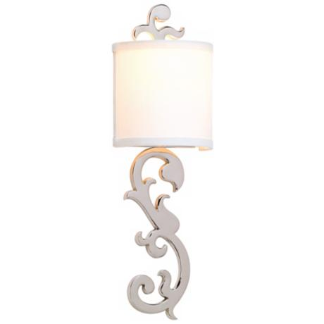 "Corbett Romeo Polished Nickel 21 1/4"" High Wall Sconce"