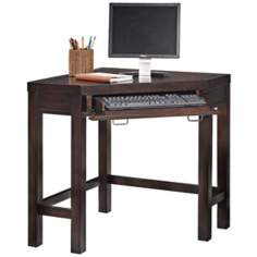 City Chic Espresso Corner Lap Top Desk