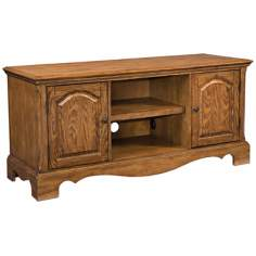 Country Casual Oak Entertainment Stand