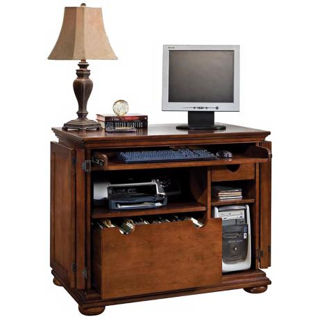 Homestead Warm Oak Compact Office Cabinet