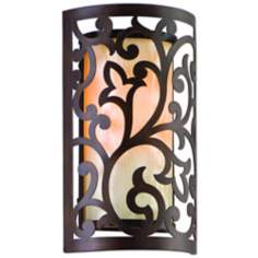 "Corbett Philippe Bronze Finish 12"" High Wall Sconce"