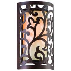 "Corbett Philippe Exterior Bronze Finish 12"" High Wall Sconce"