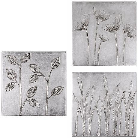 Uttermost Sterling Trio Hand-Painted Wall Decor Set of 3
