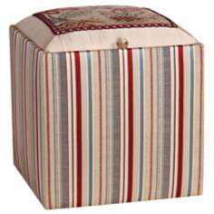 Dempsey Striped Storage Ottoman