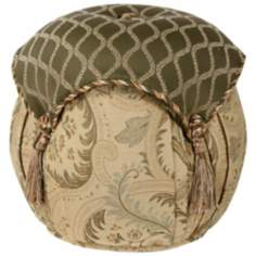 Contessa Diamond and Flourish Tassel Ottoman