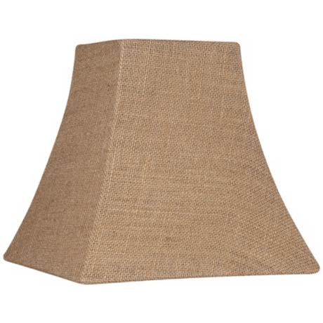 burlap square lamp shade spider. Black Bedroom Furniture Sets. Home Design Ideas