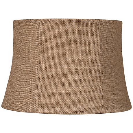 Natural Burlap Drum Lamp Shade 10x12x8 (Spider)