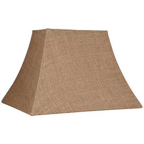 Natural Burlap Rectangle Lamp Shade 5/8x11/14x10 (Spider)