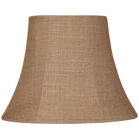natural burlap small oval lamp shade 6 8x11 14x11 spider u0889. Black Bedroom Furniture Sets. Home Design Ideas