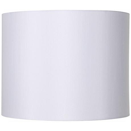 White Hardback Drum Lamp Shade 14x14x11 (Spider)