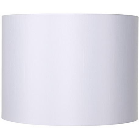 White Hardback Drum Lamp Shade 16x16x12 (Spider)