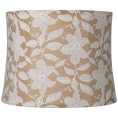 White Lace Over Gold Drum Shade 12x13x10 (Spider)