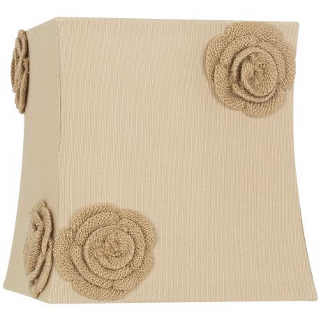 Tan Rosette Trim Square Shade 9/9x10/10x10 (Spider)