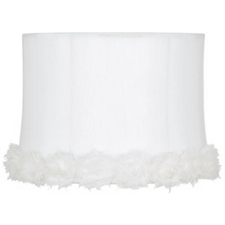 White Rosettes Drum Shade 13x14x10 (Spider)