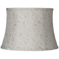 White Paisley Brocade Cream Lamp Shade 13x16x11 (Spider)