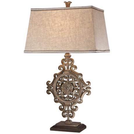Possini Medallion On Mount Table Lamp
