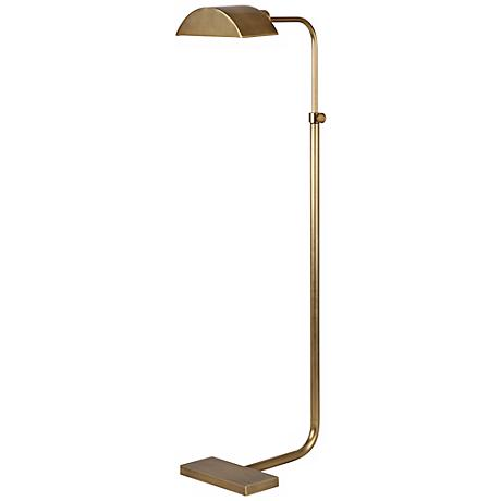 Robert Abbey Koleman Aged Natural Brass Floor Lamp