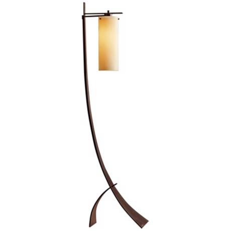Hubbardton Forge Stasis Floor Lamp with Stone Glass Shade - #U1163 ...