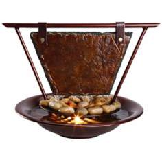 Mini Haiku Moon Tabletop Fountain
