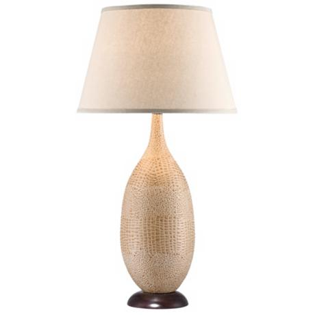 National Geographic Palmetto Faux Croc Tall Table Lamp