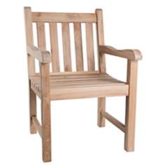 London Teak Wood Outdoor Armchair Bench