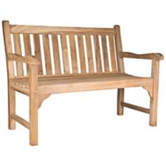 London Teak Wood 5 Foot Wide Outdoor Bench
