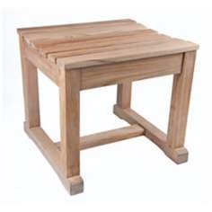 St. Tropez Teak Wood Outdoor Spa Stool