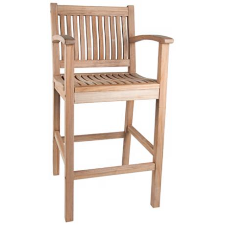 St. Tropez Teak Wood Outdoor Bar Armchair