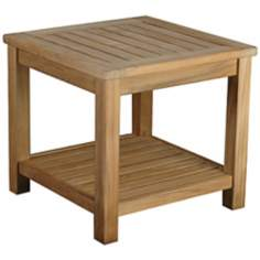 Bristol Teak Wood Outdoor Occasional Side Table
