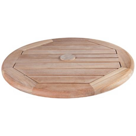 "Arbora Teak Wood 23 1/2"" Wide Outdoor Lazy Susan"