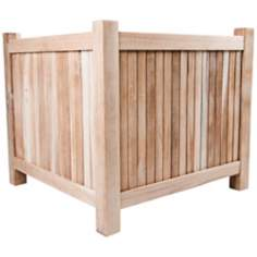 Arbora Teak Wood Outdoor Planter