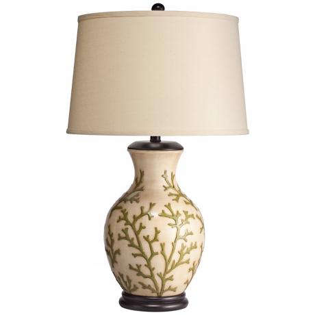 "29""H Kichler Key West Porcelain Table Lamp"