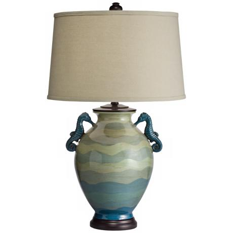 Kichler Lyric Hand-Painted Seahorse Table Lamp