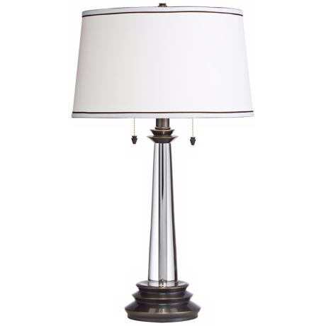 Kichler Christianne Crystal & Bronze Twin Pull Table Lamp