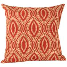 "Carino Paprika Down 18"" Square Throw Pillow"