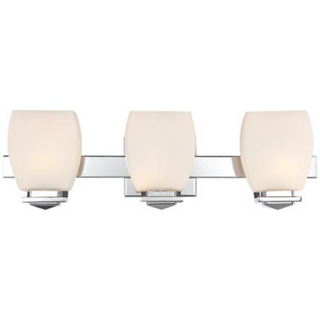 "Possini Euro Chrome 22"" Wide Bathroom Wall Light"