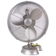 Cinni Brushed Nickel Desk  Fan
