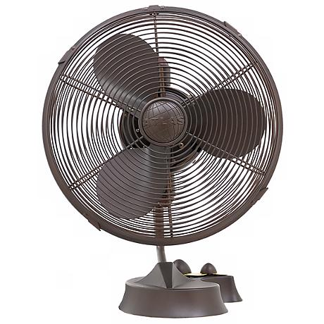 Cinni Textured Bronze Desk Fan