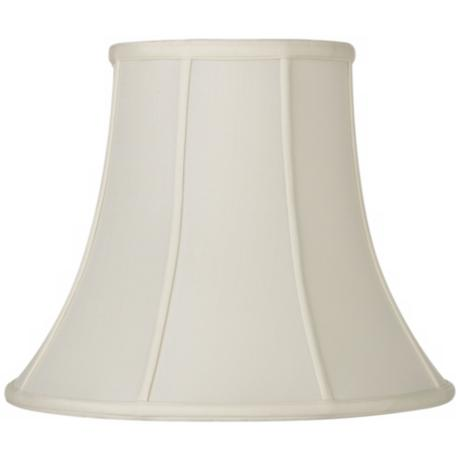 Oyster Silk Bell Lamp Shade 8.5x16x12.5 (Spider)