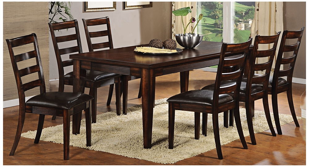 Furniture dining room furniture dining set cherry for Cherry wood dining room set