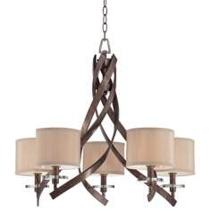 Savoy House Luzon 5-Light Antique Nickel Chandelier